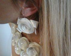 Collana e orecchini avorio
