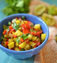 Grilled Pineapple Salsa via LittleFerraroKitchen.com by FerraroKitchen, via Flickr