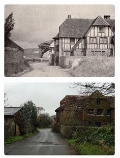 The Old Farmhouse 1935 and now