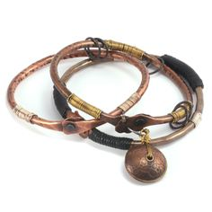 Neat copper bangles, so easy to make and inexpensive!