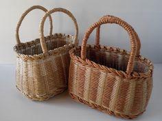 白樺がんび籠編みノート: 荒関まゆみさんレシピ本より ラタンのかごバッグ2個目