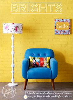 Yellow & blue interior design