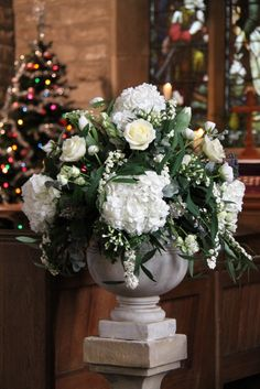 Flower Design Events: Frosty Winter Wedding Day at St Michael's & The Inn at Whitewell