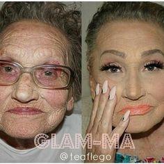 Glamorous Grandma – Contouring Makeup Transformation - Make-Up Techniken Glam Makeup, Makeup Tips, Beauty Makeup, Hair Beauty, Makeup Products, Queen Makeup, Makeup Videos, Makeup Art, Contouring Makeup