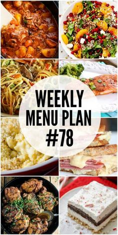 A delicious collection of side dish dessert and dinner recipes to help you make your weekly menu plan Meal Planning Board, Weekly Menu Planning, Meal Planing, Dinner Menu, Dinner Recipes, Dinner Ideas, Dinner Themes, Lunch Ideas, Meal Prep Plans
