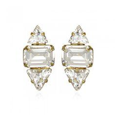 Elizabeth Cole crystal studs.