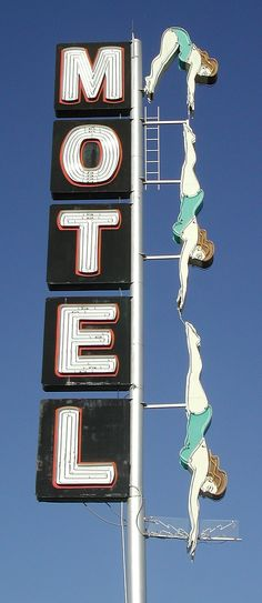 I love these old motel signs. A major part of the setting of my novel is an old roadside motel in California.