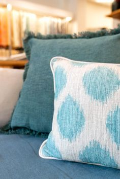 Le Grand Bleu, Label, Throw Pillows, Teal, Slipcovers, Cushions, Decorative Pillows, Decor Pillows, Scatter Cushions
