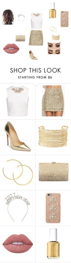 """New Years"" by slowmotionashelyy ❤ liked on Polyvore featuring Ted Baker, Christian Louboutin, Charlotte Russe, Neiman Marcus, MICHAEL Michael Kors, Lime Crime and Essie"