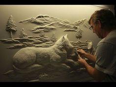Drywall Art Sculpture by Bernie Mitchell - YouTube