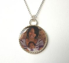 Personal Photo Pendant can be any photo you'd like. Great Valentine gift and only $20!