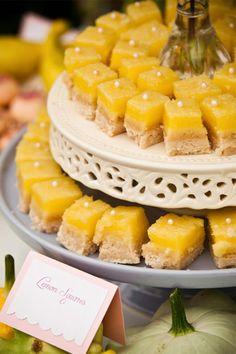 lemon squares display idea