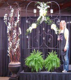 Wedding Trellis and Crystal Tree designed by Darlynn Katke, AIFD