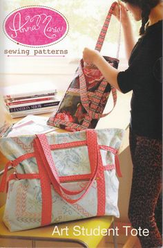 Art Student Tote Pattern... found at Quilt Sandwich Fabrics!