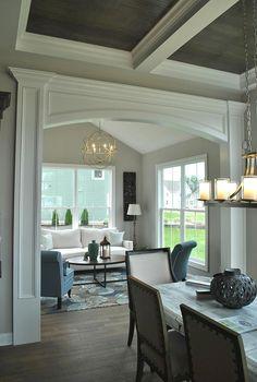 Trim   Photo Gallery   3 Pillar Homes #custom #home #trim #interiordesign #dreamhome #morningroom #sunroom #cofferedceiling