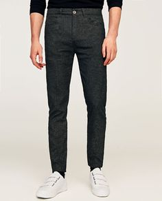 Image 2 of BASIC TROUSERS WITH TEXTURED WEAVE from Zara