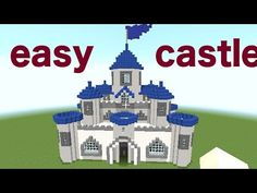 MINECRAFT : HOW TO BUILD A CASTLE part 2/2 [minecraft easy castle tutorial] - YouTube