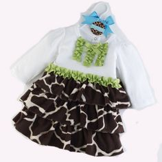 Wild Child Giraffe Minky Dress