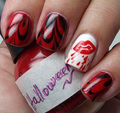 Halloween marbled mani.