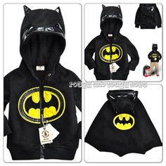Batman Jacket with detachable Cape and detailed Hood - $32 + Postage