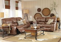 picture of San Angelo Brown 5 Pc Sectional from Living Room Sets