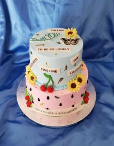 Bolos One Direction, One Direction Birthday, One Direction Cakes, Harry Styles Birthday, Harry Birthday, Pretty Birthday Cakes, Cute Birthday Cakes, 13th Birthday Parties, Sweet 16 Birthday