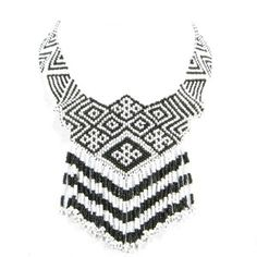 black and whit necklace