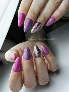 Pink lilac nails