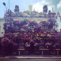The Churchill Arms, Notting Hill. #travel #nottinghill #london #pub