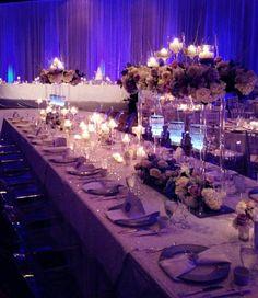 Create a purple paradise using uplighting at your reception. #purpleweddings #weddignreception