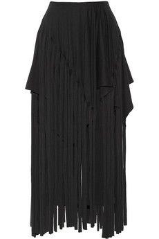 Junya Watanabe Fringe-overlay cotton-jersey pants | NET-A-PORTER