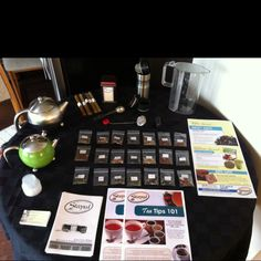 Lovely Steeped Tea open house table.  Contact me if you would like to host a party.