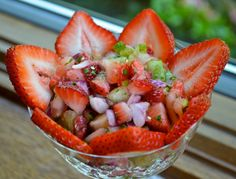 Strawberries are appropriate for a fatty liver diet because they're low in fructose and rich in natural antioxidants. Enjoy this recipe for strawberry salsa!