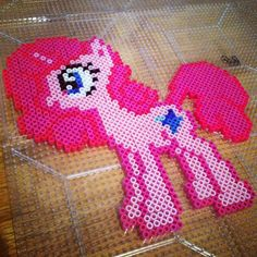 MLP Pinkie Pie perler beads by brizzlepizzleart