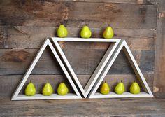 Geometric Triangle Shelf - Wall Shelf - Floating Shelf - Shelves. OMGeeee how cute are these?