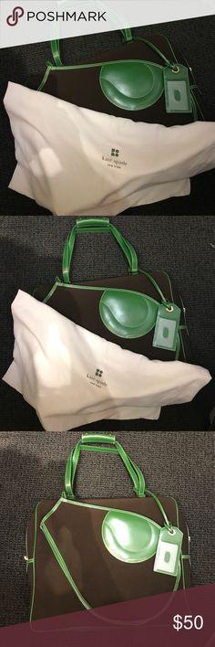Kate Spade tennis bag// handbag Green and brown tennis bag new never used! Kate Spade Bags Totes
