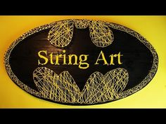 Batman String Art (tutorial)   String Art DIY   Free patterns and templates to make your own String Art