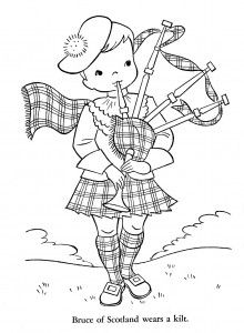 scottish coloring pages | Map of Scotland colouring page | Around the World ...