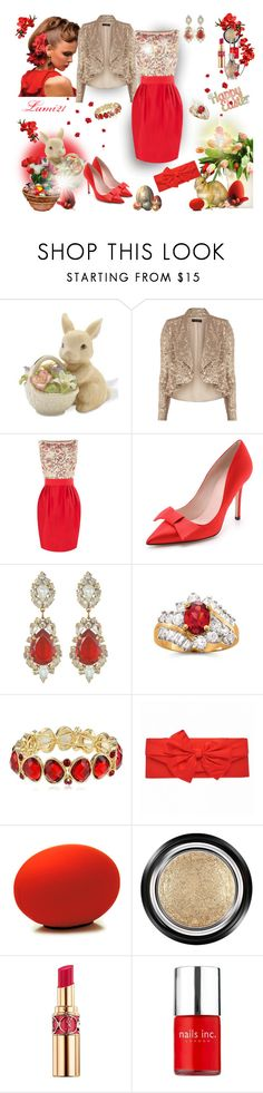 """happy Easter"" by lumi-21 ❤ liked on Polyvore featuring Lenox, Dorothy Perkins, Kate Spade, Napier, Baleri Italia, Giorgio Armani, Yves Saint Laurent and Nails Inc."
