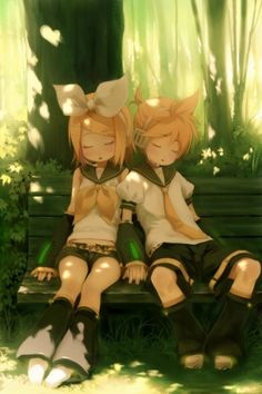Rin and Len sleeping