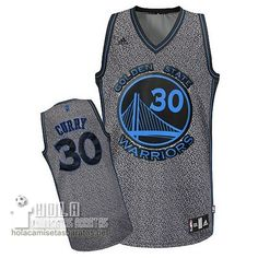 Camisetas Nba Baratas Moda Estatico Swingman Curry #30 Gris Golden State Warriors  €21.9
