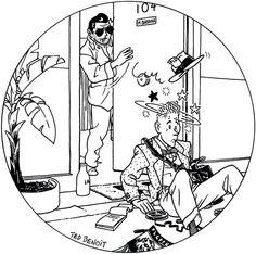 Ray Banana, par Ted Benoit, illustration pour le sommaire du N°13 du magazine PLGPPUR de 1983.
