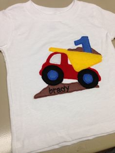 Constructions Dump Truck Birthday Shirt