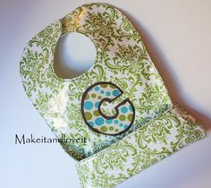 @Megan Sanford is this the type of bib you were talking about? cute, seems easy enough!