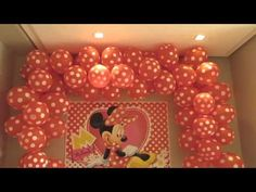 decoraçao de festa infantil minnie rosa (suzy festa decoraçao ) - YouTube
