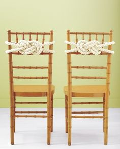 "See the ""Rope Knot Chair Backs"" in our Good Things for Summer Weddings gallery"