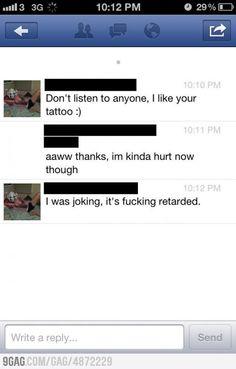 She tattooed YOLO...