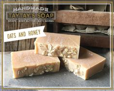 Oats and Honey Soap Bar - Hand Soap - Goats Milk - Honey - Oatmeal - All Natural - Handmade - Essential Oils - TayTays Soap by TayTaysSoap on Etsy https://www.etsy.com/listing/466873814/oats-and-honey-soap-bar-hand-soap-goats