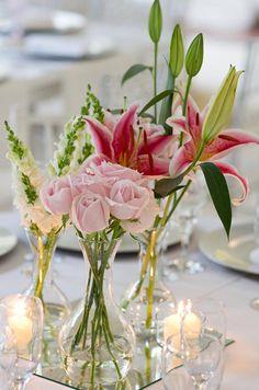 Decoração de casamento rosa claro