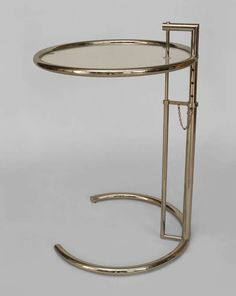 American Art Moderne Style Adjustable Chrome End Table | From a unique collection of antique and modern end tables at http://www.1stdibs.com/furniture/tables/end-tables/